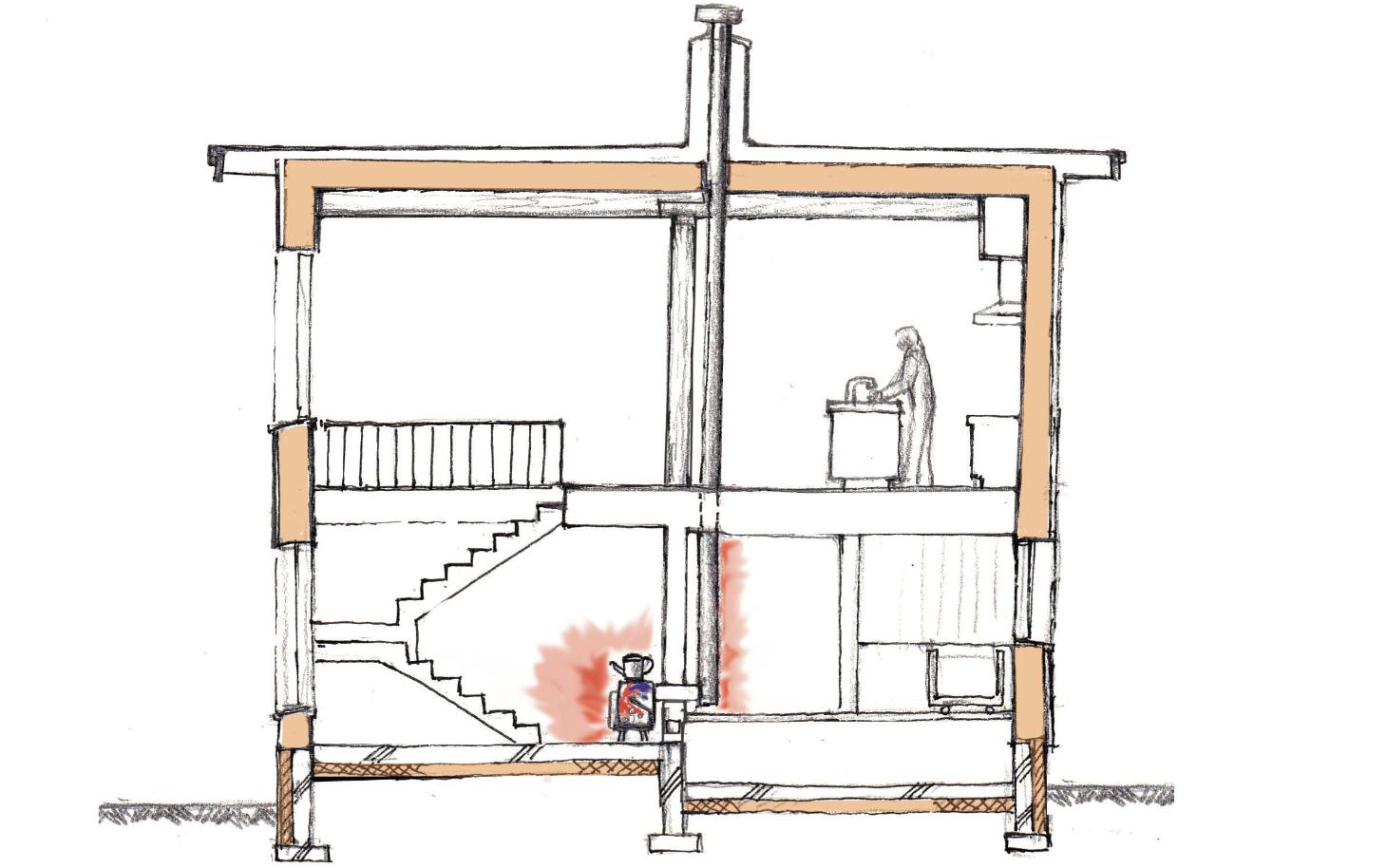 薪ストーブによる暖房計画